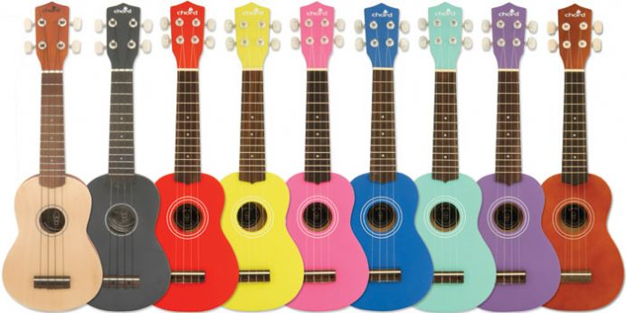 Chord Ukuleles available in different colours